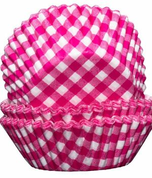 Pink Gingham Cupcake Cases
