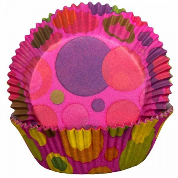 Bubble Pink Cupcake Cases