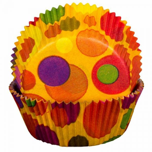 Bubbles Orange Cupcake Cases