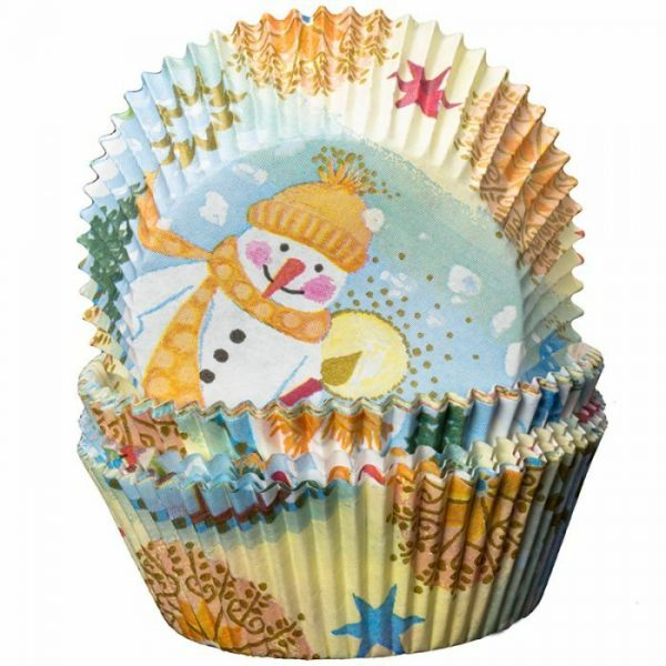 Snowman and Stars Cupcake Cases