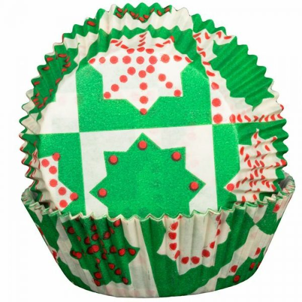 Green Christmas Cupcake Cases