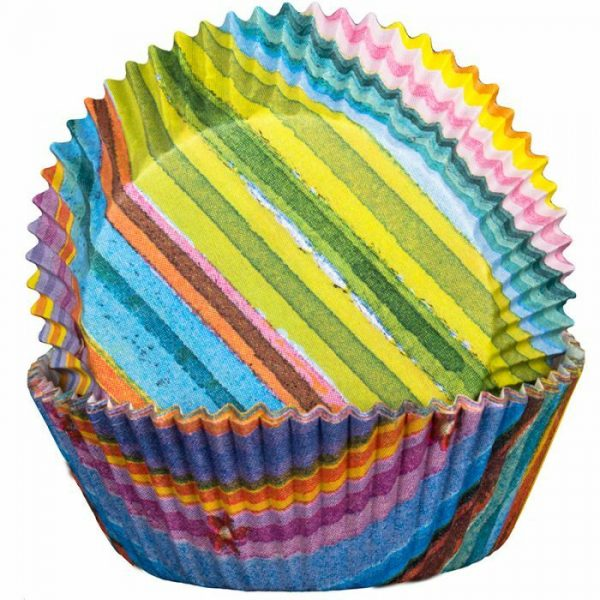 Stripy MultiColour Cupcake Cases