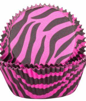 Pink Zebra Cupcake Cases