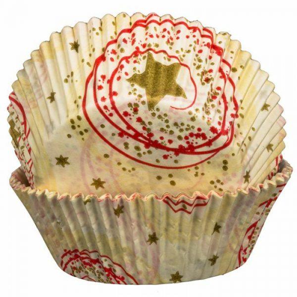 Cream Stars Cupcake Cases