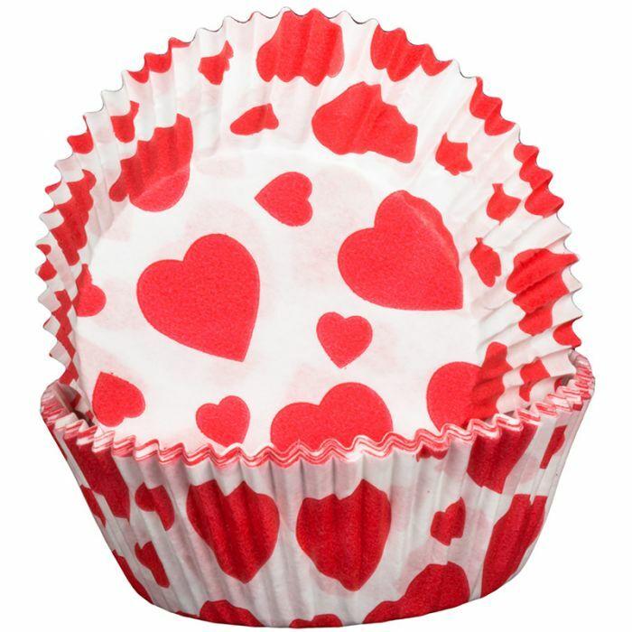 Valentines Hearts Design Cupcake Cases