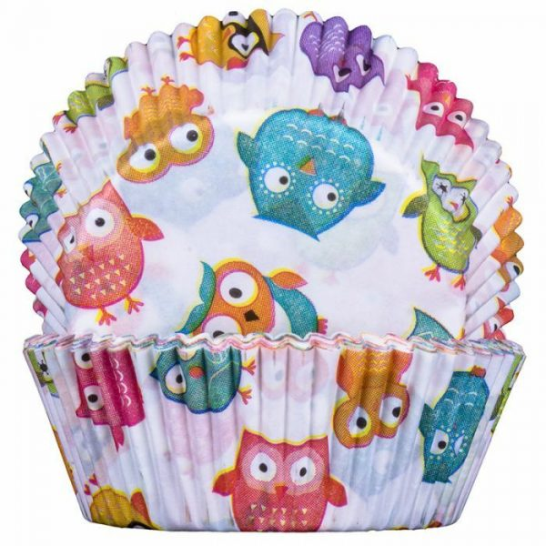 Owls Cupcake Cases 50x25mm