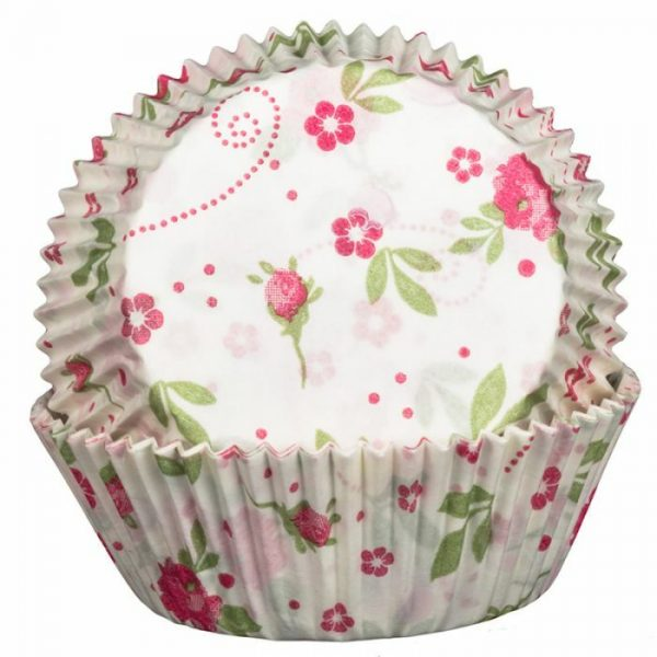 Floral Rose Cupcake Cases
