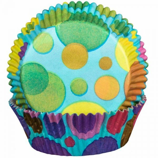 Bubbles Turquoise Cupcake Cases