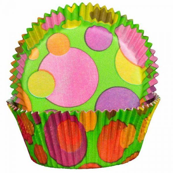 Bubble Green Cupcake Cases