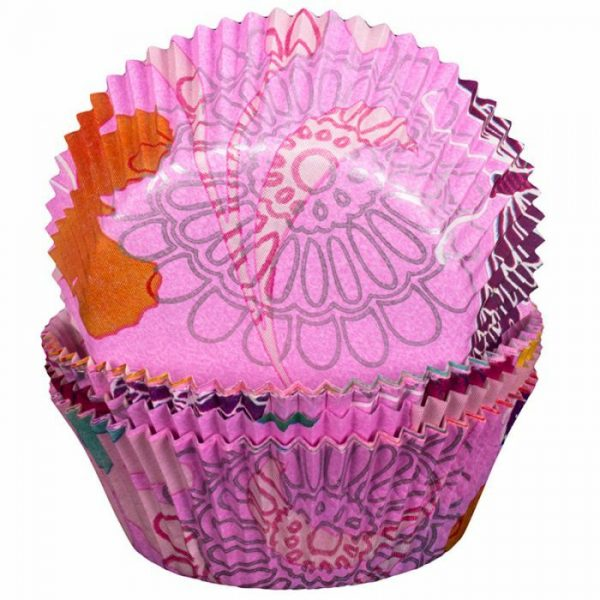 Pink Flower and Butterfly Cupcake Cases