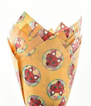 Fox Print Muffin Tulip Wraps