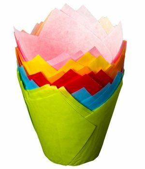 Tulip Cake Wraps Mixed Colours